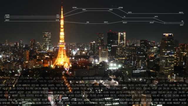 timelapse of tokyo tower - internet of things stock videos & royalty-free footage