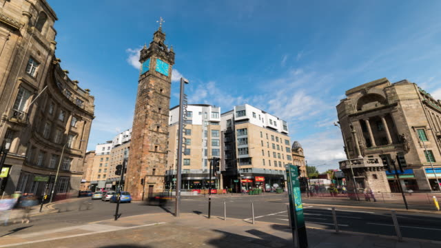 Timelapse of Tolbooth Steeple in Glasgow