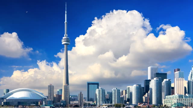 timelapse of toronto - toronto stock videos & royalty-free footage