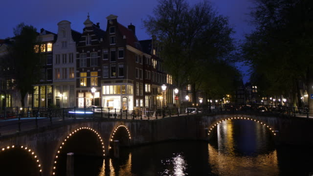 timelapse of tourist famous place at amsterdam netherlands - canal stock videos & royalty-free footage