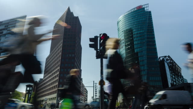 Timelapse of traffic at Potsdamer Platz, Berlin, Germany