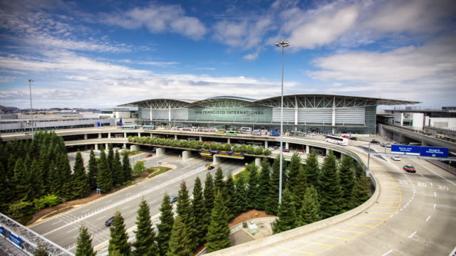 Timelapse of Traffic at San Francisco International Airport