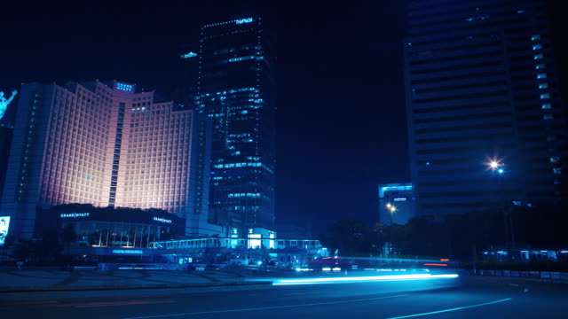 Timelapse of traffic in Jakarta in Bundaran HI, Sudirman-Thamrin road