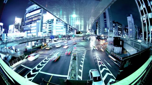 Zeitraffer des Verkehrs in Tokio