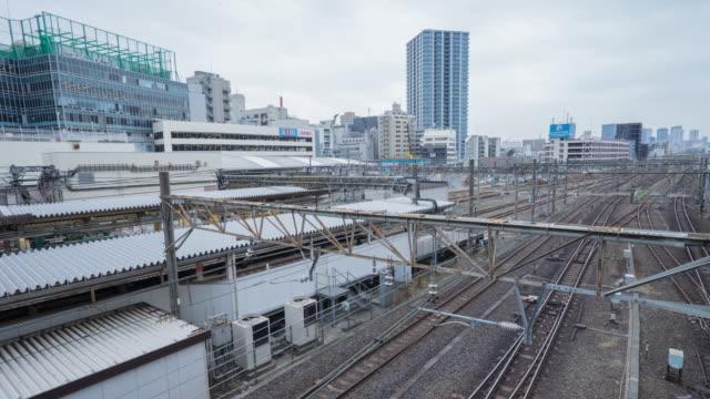 4k time-lapse of trains at ikebukuro station. - hamamatsu stock videos and b-roll footage