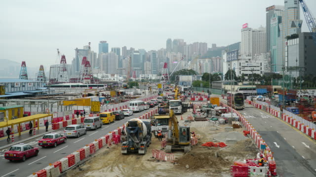 timelapse of transportation construction site working - newly industrialized country stock videos & royalty-free footage