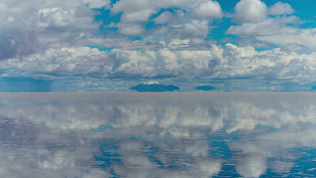 timelapse of uyuni salt flat, bolivia - bolivia stock videos & royalty-free footage