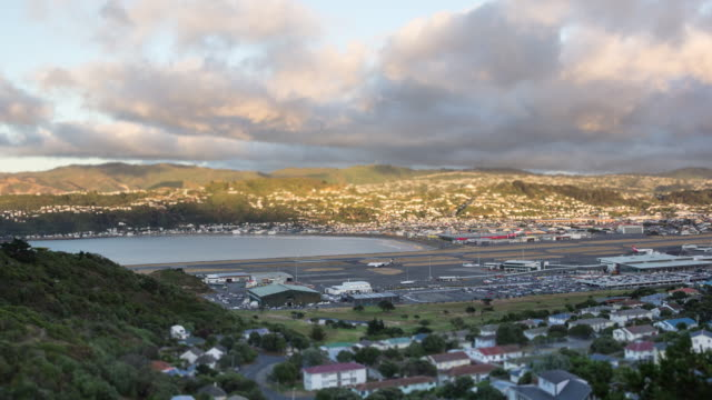 Time-lapse of Wellington airport, New Zealand