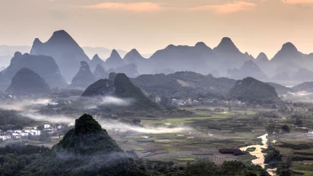 Timelapse av Wuzhi berg
