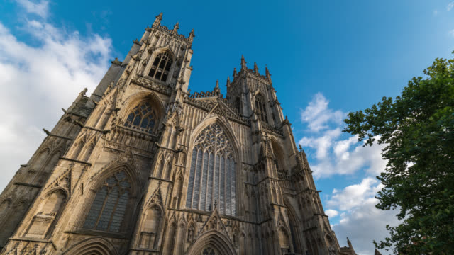 YORK: TimeLapse of York Minster during a sunny day