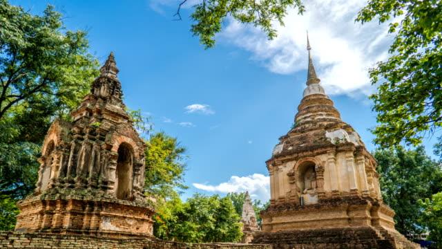 4K Timelapse - Old Style Thai Pagodas