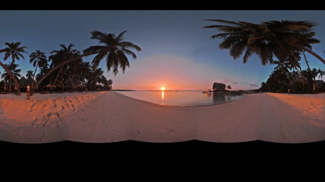 Timelapse on a beach in the Maldives