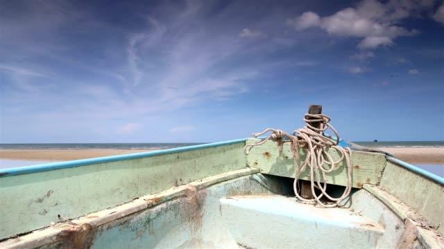 タイムラプスでボート、タイ huahin - vj演出点の映像素材/bロール