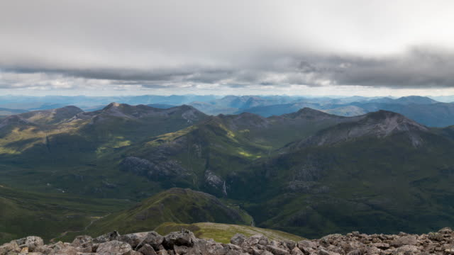 Timelapse on the summit of Ben Nevis in Scotland