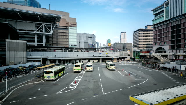 hd timelapse: osaka central bus station umeda - compartment stock videos & royalty-free footage