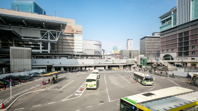 timelapse: osaka central bus station umeda - compartment stock videos & royalty-free footage