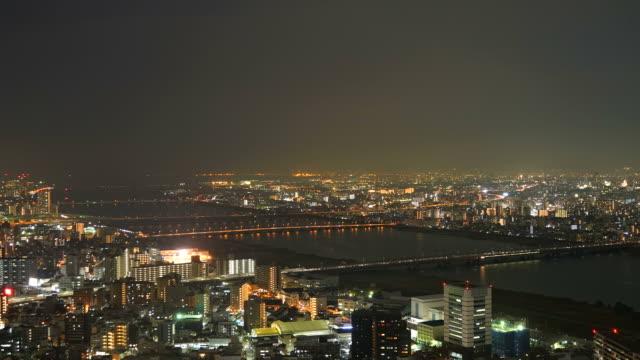 HD timelapse Osaka City Skyline