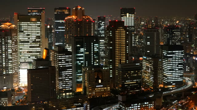 timelapse Osaka City Skyline