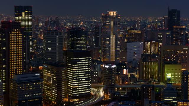 4K Time-lapse: Osaka Cityscape at night