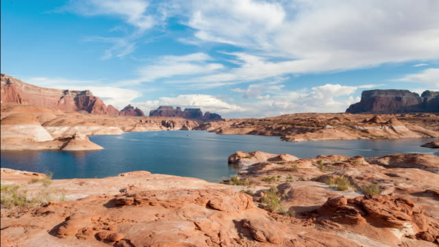 Timelapse over Lake Powell at Sunset