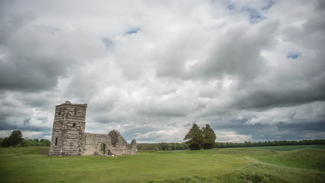 time-lapse over rural church - durability stock videos & royalty-free footage