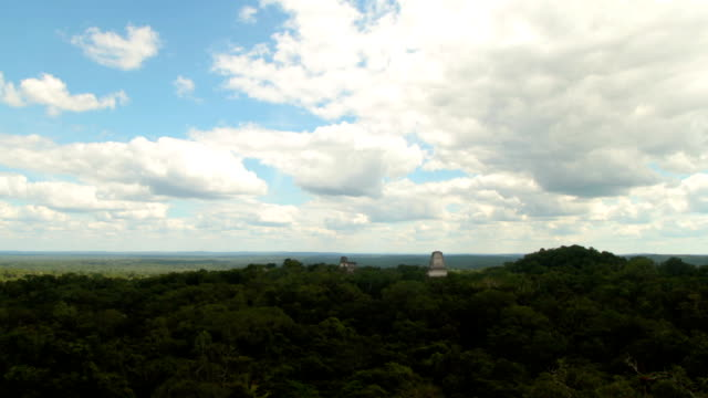 timelapse overlooking tikal guatemala - guatemala stock videos & royalty-free footage