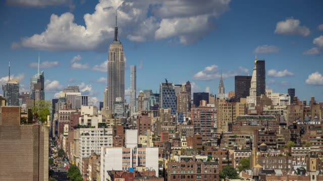 timelapse panning up sixth avenue - midtown manhattan stock videos & royalty-free footage