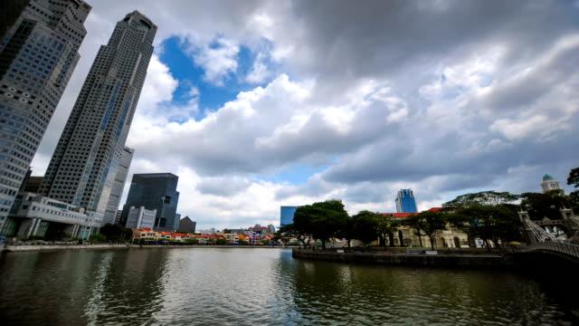 Timelapse panoramisch uitzicht in Singapore