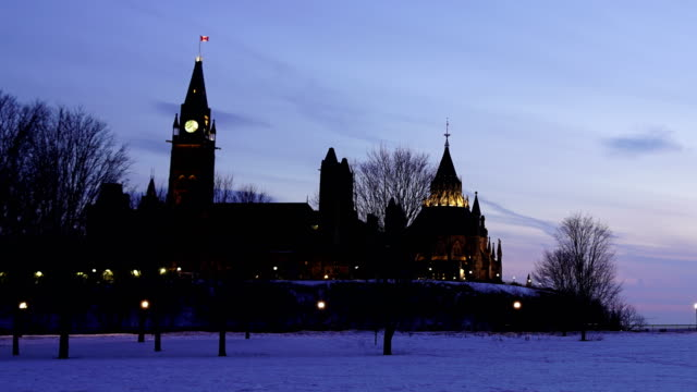 time-lapse :parliament hill at sunset - parliament hill stock videos & royalty-free footage