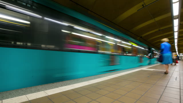 4K Time-lapse: Passenger Commuter Crowded at Metro Subway station Paris