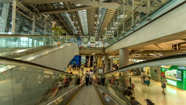 HD-Zeitraffer : Passagier bei der Ankunft in der Luft Hafen