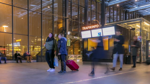 Time-lapse Pedestrian at Malmo station in Sweden