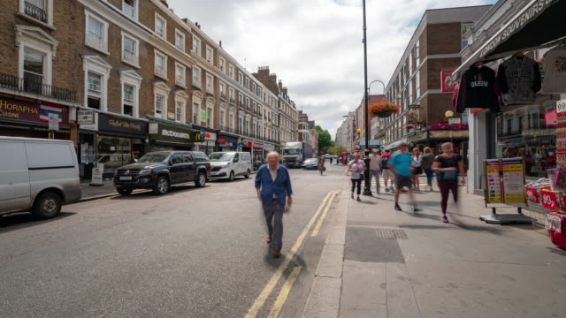 Time-lapse: Pedestrian Crowd at bayswater city of westminster London England UK