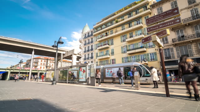4K Time-lapse: Pedestrian crowded at Nice Ville Station, Nice France