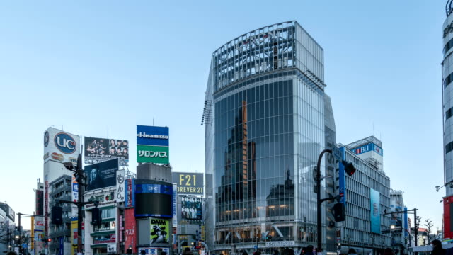 4 K Time-Lapse: voetganger kraaide bij Tokyo Shibuya Crossing