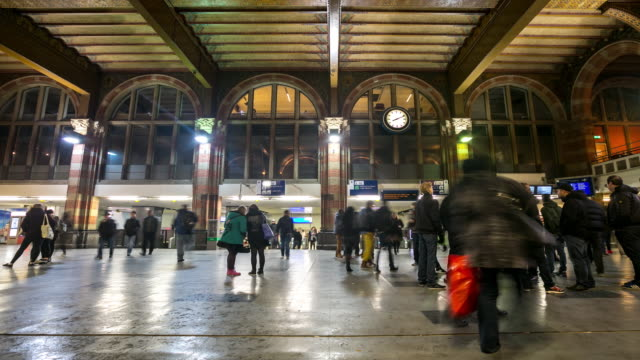 Time-lapse: Pedestrian in Amsterdam Station night