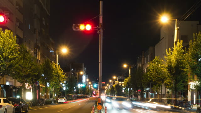 "vídeos de stock e filmes b-roll de hd ""time-lapse"": peões em osaka à noite - hd format"