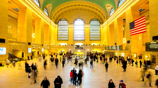 HD Time-lapse: Pedestrians Crowd at Grand Central station New York