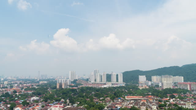 4k timelapse: penang city in day. - penang stock videos and b-roll footage