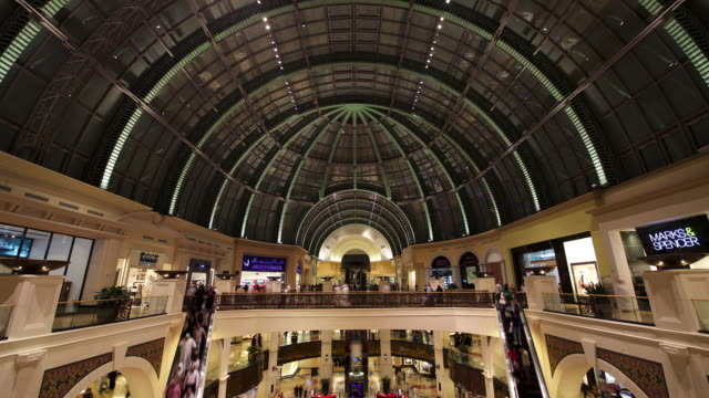 Timelapse people stream through Mall of the Emirates, Dubai, UAE