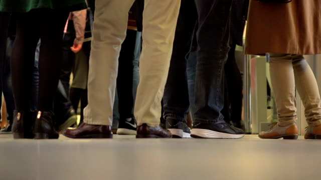 timelapse: people walking - human leg stock videos & royalty-free footage