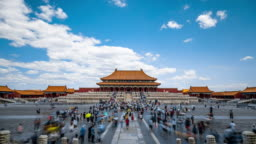 Time-lapse photography at the Forbidden City, Beijing, China