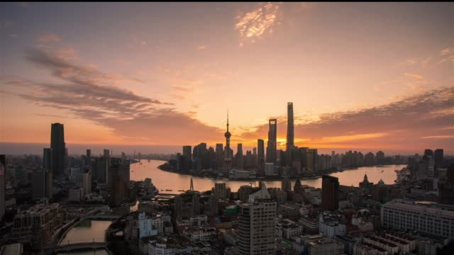 time-lapse photography of shanghai city skyline - oriental pearl tower shanghai stock videos & royalty-free footage
