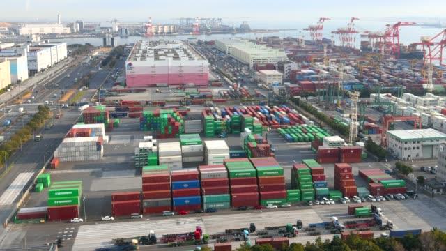 vídeos y material grabado en eventos de stock de lapso de tiempo: puerto que trabaja en el distrito de odaiba, tokio, japón - descargar actividad