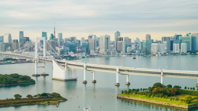 東京タワーとレインボー ブリッジのタイムラプス
