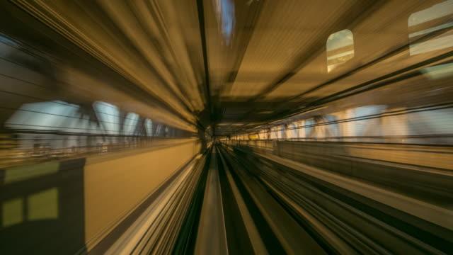 時間速度 : モノレールに乗って東京 - モノレール点の映像素材/bロール