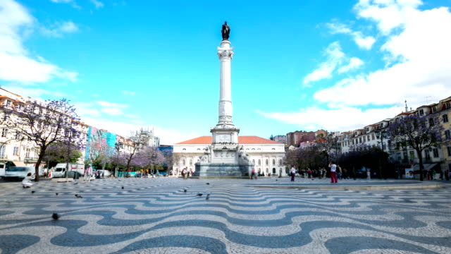 HD Time-lapse: Rossio Square Lisbon Portugal