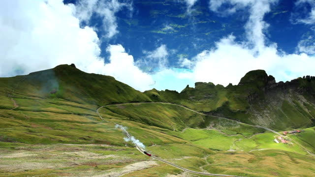 timelapse rothorn kulm and lake brienz - lake thun stock videos and b-roll footage