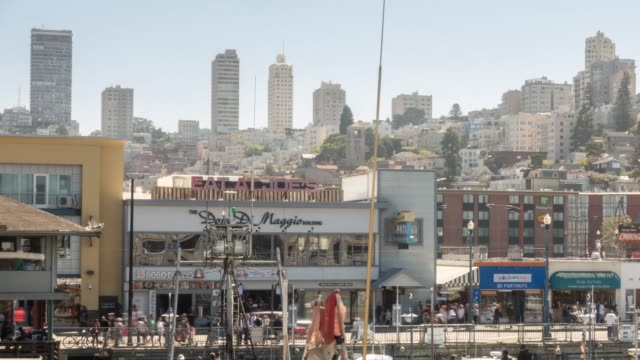 time-lapse san francisco downtown from north pier district, california, usa - oakland california stock videos & royalty-free footage