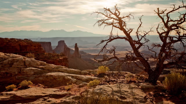 timelapse, scenic canyon in utah - moab utah stock-videos und b-roll-filmmaterial
